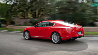 Bentley Continental GT V8 S coupe 2014 rear tracking