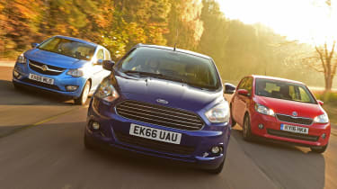 Ford Ka+ vs Vauxhall Viva vs Skoda Citigo - header 1