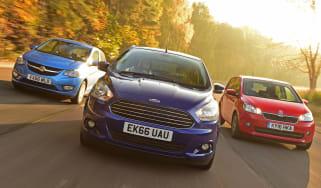 Ford Ka+ vs Vauxhall Viva vs Skoda Citigo - header 1