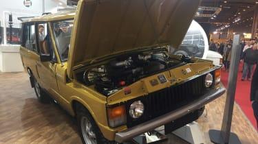 Range Rover Reborn front - Retromobile