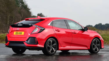 Honda Civic vs Volkswagen Golf vs Renault Megane - civic rear quarter