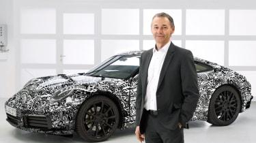 New Porsche 911 - front