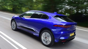 Jaguar I-Pace rear tracking shot