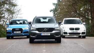 Volvo XC40 vs Audi Q3 vs BMW X1 - head-to-head