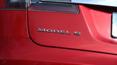 Tesla Model S long-term final report - Model S badge