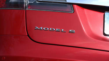 Tesla Model S long-term final report - Model S badge