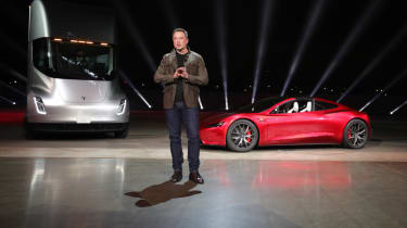 Tesla lorry - electric truck revealed - Elon Musk and roadster