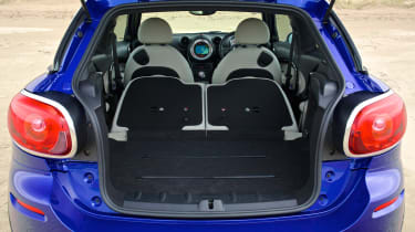 MINI Cooper SD Paceman boot seats folded