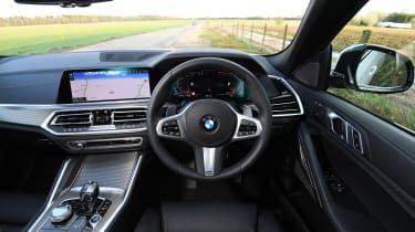 BMW X6 twin test - interior