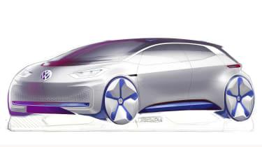 VW electric car Paris concept sketch