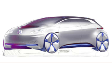 VW electric car Paris concept sketch