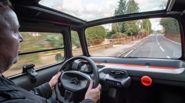 Citroen Ami long termer - Steve driving