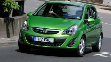 Vauxhall Corsa front action