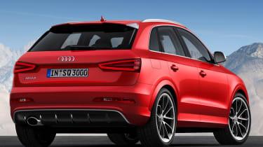 Audi Q3 RS rear three quarter red static