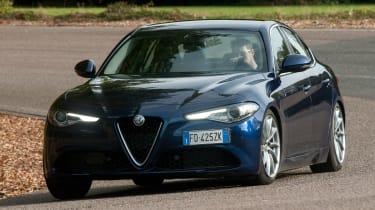 Alfa Romeo Giulia - front cornering