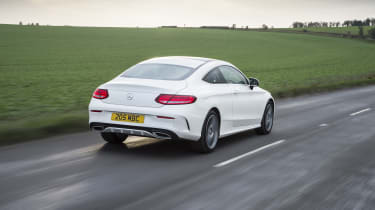 Mercedes C-Class Coupe C250d AMG Line - rear tracking
