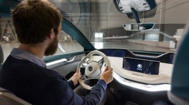 Skoda Vision E concept - driving