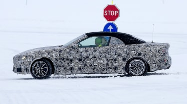 BMW 4 Series Convertible spies - side winter