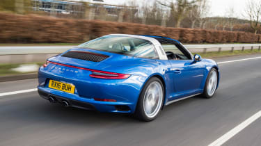 Porsche 911 Targa 2016 UK - rear tracking 2