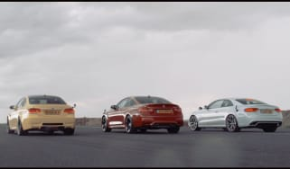 RS5 vs M4 vs M3 drag race