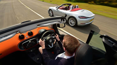 Convertible megatest - Smart and Boxster