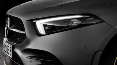 New Mercedes A-Class - studio front light