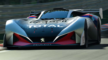 Peugeot L750 R Hybrid Vision Gran Turismo - action front