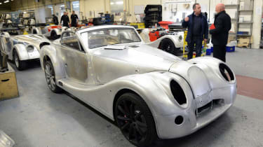 Morgan factory - car construction rear front