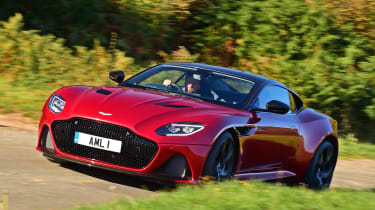 Aston Martin DBS Superleggera - front action