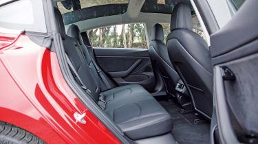Tesla Model 3 - rear seats