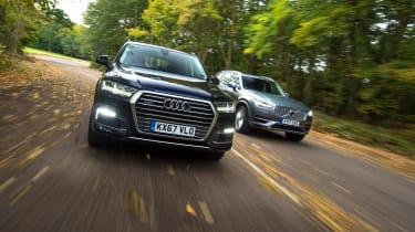Audi Q7 e-tron vs Volvo XC90 T8 - head-to-head