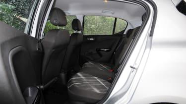 Vauxhall Corsa 2015 rear seats