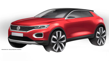 VW T-ROC sketch - front red