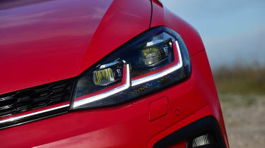 Volkswagen Golf GTI Performance Pack - front light detail