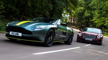 Aston Martin DB11 AMR vs Bentley Continental GT - header two