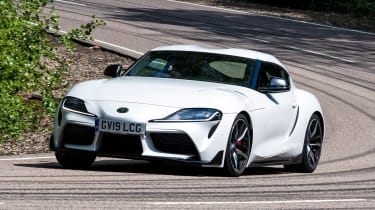 Toyota Supra - front action