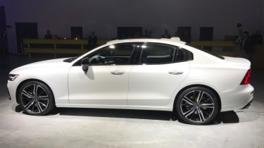 New Volvo S60 white side profile