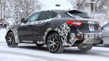Maserati Levante GTS spy shot - rear