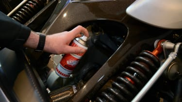 Silicone based spray - in use