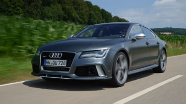 Audi has designed the RS7 with a low-slung body.
