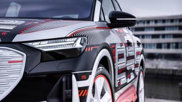 Audi Q4 e-tron prototype - front light