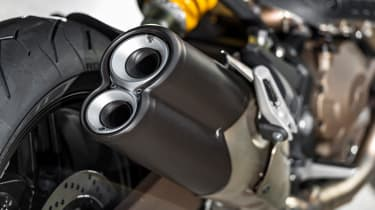 Ducati Monster 821 review - exhaust