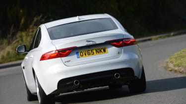 The XF rights the XE's wrongs in terms of practicality. You get a decent-sized 540-litre boot and enough space in the rear for tall passengers. There's no Sportbrake estate version yet, and it looks unlikely that one will be produced
