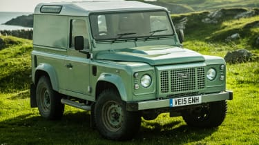 A Land Rover Defender from 2015.