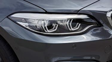 BMW M240i Coupe facelift review - headlight