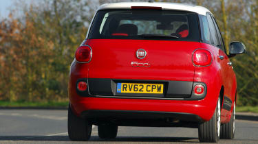 Although it's styled like the 500, the 500L is actually based on the chassis and underpinnings of the Fiat Punto.
