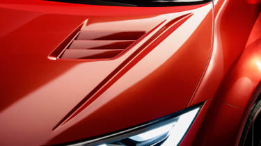 New Honda Civic Type R concept front lights
