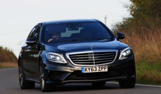 Mercedes S63 AMG 2014 front action