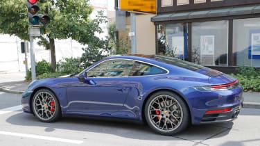 Next generation Porsche 911 parked rear