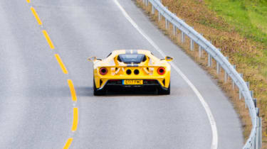 Ford GT Norway road trip - rear action